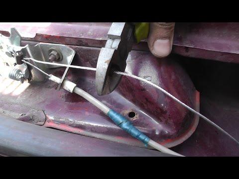 Корчен-тулинг троса капота на ВАЗ 21011.