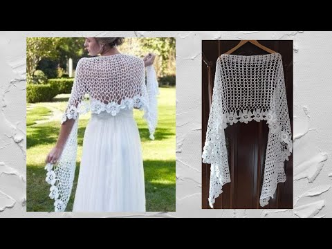 crochet chal shawl flores subtitles in several lenguage