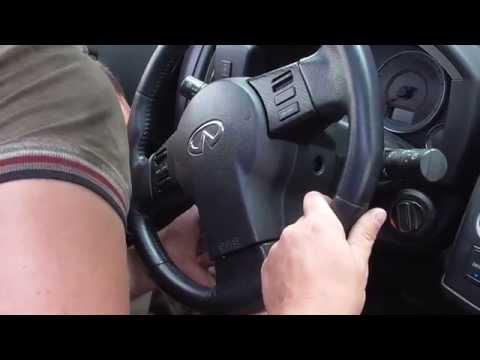 Как снять руль и шлейф infinity FX45 - 35