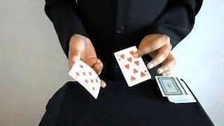 getlinkyoutube.com-تعلم العاب الخفة # 192 ( حركة بثلاث اوراق لعب )  Card Trick REVEALED
