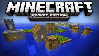 getlinkyoutube.com-OCEAN VILLAGE SEED - Village in the Middle of the Ocean - Minecraft Pocket Edition
