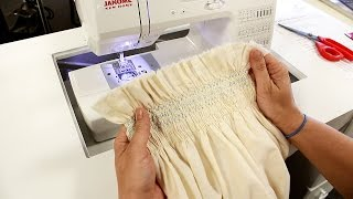 How to do Smocking on Fabric Using the Janome DC1050