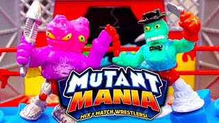 getlinkyoutube.com-Mutant Mania Rampage Arena Mix & Match Wrestlers Mega Fighting Toy Review