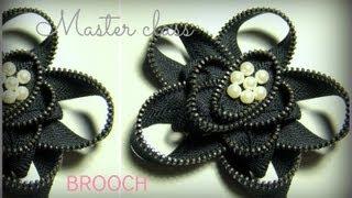 брошь из молнии / zipper brooch