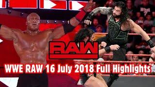 WWE Monday Night RAW 16 July 2018 Full Highlights Hindi