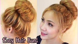 getlinkyoutube.com-3 minute easy hair bun สอนทำผมดังโง๊ะเพียง3นาทีเด้งเลยคะ