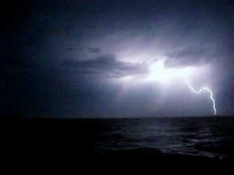 RARE FOOTAGE 2012 FRIDAY THE 13th  - VICTORIA BC THUNDER AND LIGHTNING STORM