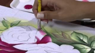getlinkyoutube.com-Mulher.com 25/04/2013 Ana Laura Rodrigues - Pintura em tecido rosas Parte 1