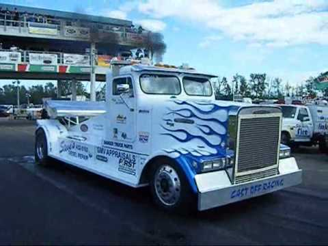 semi truck drag racing