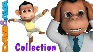 getlinkyoutube.com-Five Little Monkeys Jumping on the Bed | Nursery Rhymes Collection | Nursery Rhymes Dave and Ava