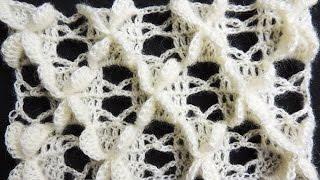 Crochet : Punto Mariposa Recto.  Parte 1 de 2