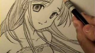 getlinkyoutube.com-How to Draw an Innocent-Looking Manga Girl [HTD Video #11]