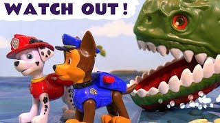 getlinkyoutube.com-Paw Patrol Stop Motion Watch Out Pups with Thomas and Friends & Kinder Surprise Eggs Fun TT4U