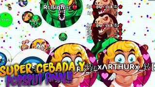 getlinkyoutube.com-SUPER CEBADA & POP FINAL!! | Agar.io | Rubinho vlc