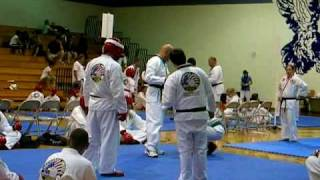 getlinkyoutube.com-Taekwondo America sparring - orange belt vs green belt