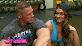 getlinkyoutube.com-Nikki Bella and John Cena set up a friendly bet while at the gym: Total Divas, January 18, 2015