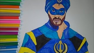 getlinkyoutube.com-A Flying Jatt Coloring Pages Superhero Indian movie  Speed  colouring for kids