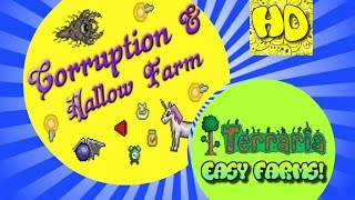 getlinkyoutube.com-Terraria Easy Hallowed, Corruption & Crimson Farm | 1.3 Farms