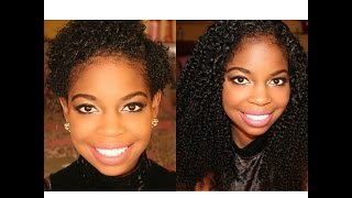 getlinkyoutube.com-How to clip in Extensions on a twa (super short natural hair)