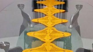 getlinkyoutube.com-Camino de mesa /cuadros en crochet #3🔶