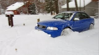 "getlinkyoutube.com-500 hp Audi S4 quattro vs 12""+ of fresh snow!  Unstoppable..."