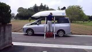 getlinkyoutube.com-一人でFRP一体型ミニボートをカートップする(自作木製レール使用)ホープ:ドルフィン110