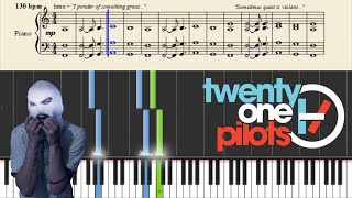 getlinkyoutube.com-twenty one pilots: Car Radio (Easy Piano Tutorial) + Sheets