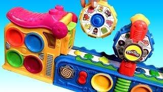 getlinkyoutube.com-Play Doh Mega Fun Factory Machine Conveyor Toy Play Dough Mega Fábrica Loca by DisneyCollector