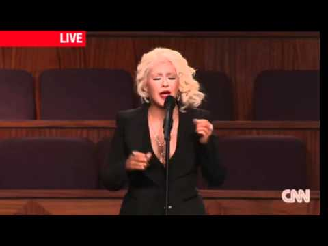 Christina Aguilera At Etta James Funeral  (LOTUS OUT NOW)