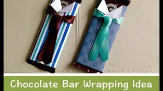 getlinkyoutube.com-Chocolate bar gift wrapping idea 板チョコのラッピング方法