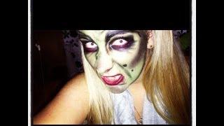 getlinkyoutube.com-Halloween Tutorial Witch,Hexe, Last Minute Make-up