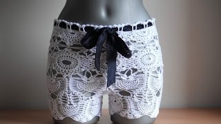 getlinkyoutube.com-How to crochet summer shorts free pattern tutorial by marifu6a