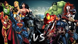 getlinkyoutube.com-Los Vengadores vs La Liga de la Justicia. Épica Batalla Final de Rap del Frikismo | Keyblade & Otros