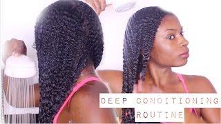 getlinkyoutube.com-DEEP CONDITIONING  ROUTINE ON NATURAL HAIR