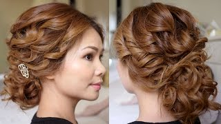 getlinkyoutube.com-Low Bridal Tousled Updo Hair Tutorial