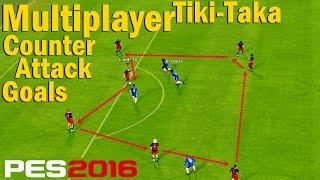 getlinkyoutube.com-PES 2016 PC MultiPlayer - Tiki-Taka / Pass / Attack / Goals