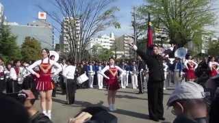 getlinkyoutube.com-Wチャンパ '14春 早慶レガッタ浅草寺パレード 2