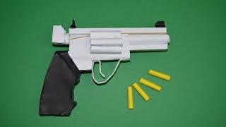 getlinkyoutube.com-Como hacer Pistola de Papel que Dispare - Revólver  Magnum 357 - Armas Caseras