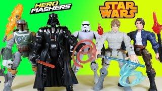 getlinkyoutube.com-The BEST Star Wars Hero Mashers Darth Vader Skywalker Han Solo & The Force Awakens Surprise Eggs
