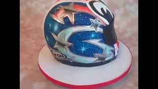 getlinkyoutube.com-Motorcycle Helmet Cake