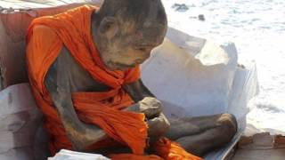 getlinkyoutube.com-200-Year-Old Mummified Buddhist Monk is 'Not Dead' Just Meditating