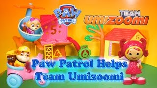 getlinkyoutube.com-PAW PATROL Nickelodeon Paw Patrol Helps Team Umizoomi Toys Video Parody