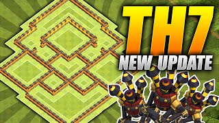 getlinkyoutube.com-Clash of Clans – BEST TH7 Farming Base – NEW Three Air Defense Update – (CoC Townhall 7 Hybrid Base)