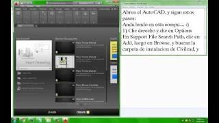 """getlinkyoutube.com-Instalar Civilcad en Autocad 2016 después de error """"Modulo no Autorizado"""""""