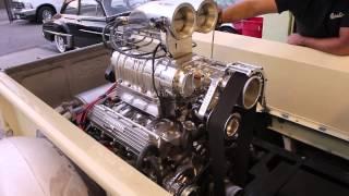 Blown 455 Oldsmobile Engine