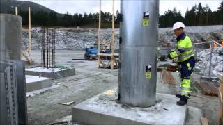 getlinkyoutube.com-Mindor Formwork | Concrete | column | formwork | Pelarformar | Pillar - Moskog - 2012