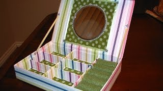 getlinkyoutube.com-RECYCLE IDEAS: JEWERLY BOX WITH MIRROR
