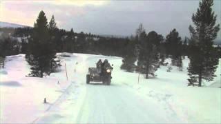 getlinkyoutube.com-Motorcycle with sidecar in Norway Feb 2010