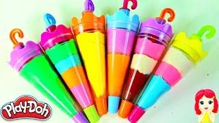 getlinkyoutube.com-Paletas Arcoiris de Plastilina Play Doh|Rainbow Play Doh Popsicles|Mundo de Juguetes