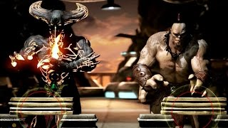 getlinkyoutube.com-Mortal Kombat X Corrupted Shinnok Test Your Might Gameplay with Rain, Baraka and More 【HD】